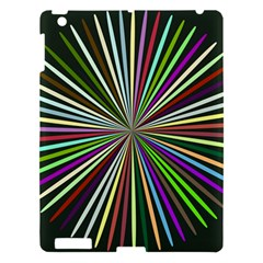 Colorful Rays Apple Ipad 3/4 Hardshell Case