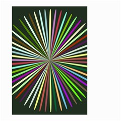 Colorful Rays Small Garden Flag