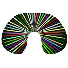 Colorful rays Travel Neck Pillow