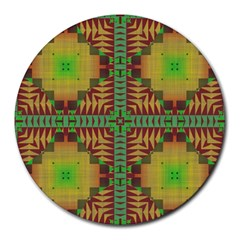 Tribal Shapes Pattern Round Mousepad
