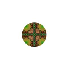 Tribal Shapes Pattern 1  Mini Magnet