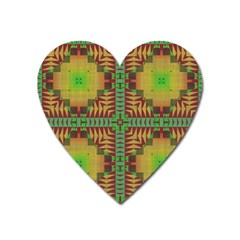 Tribal Shapes Pattern Magnet (heart)