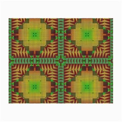 Tribal Shapes Pattern Small Glasses Cloth