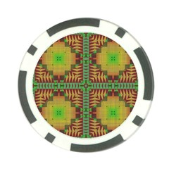 Tribal Shapes Pattern Poker Chip Card Guard (10 Pack)