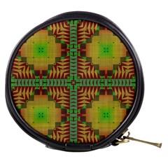 Tribal Shapes Pattern Mini Makeup Bag
