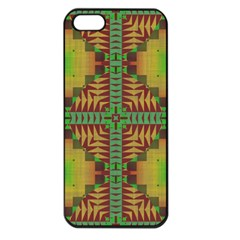 Tribal Shapes Pattern Apple Iphone 5 Seamless Case (black)