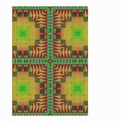 Tribal shapes pattern Small Garden Flag