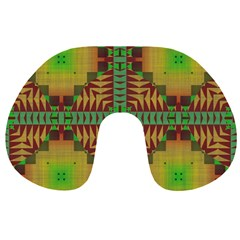 Tribal shapes pattern Travel Neck Pillow
