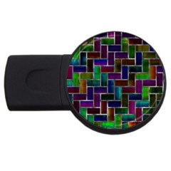 Colorful Rectangles Pattern Usb Flash Drive Round (2 Gb)