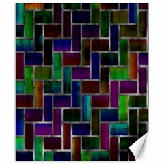 Colorful Rectangles Pattern Canvas 8  X 10