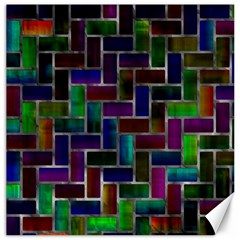 Colorful Rectangles Pattern Canvas 16  X 16