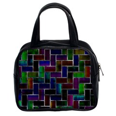 Colorful Rectangles Pattern Classic Handbag (two Sides)