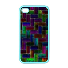 Colorful Rectangles Pattern Apple Iphone 4 Case (color)