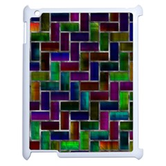 Colorful Rectangles Pattern Apple Ipad 2 Case (white)