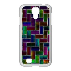 Colorful Rectangles Pattern Samsung Galaxy S4 I9500/ I9505 Case (white)
