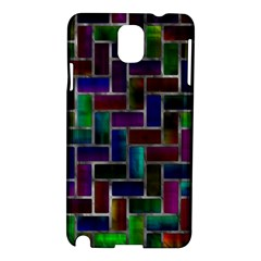 Colorful Rectangles Pattern Samsung Galaxy Note 3 N9005 Hardshell Case