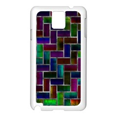 Colorful Rectangles Pattern Samsung Galaxy Note 3 N9005 Case (white)