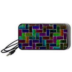 Colorful Rectangles Pattern Portable Speaker