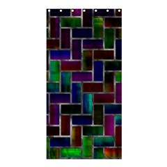 Colorful rectangles patternShower Curtain 36  x 72
