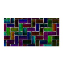 Colorful rectangles pattern Satin Wrap