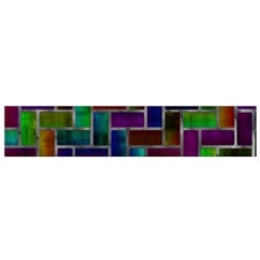 Colorful rectangles pattern Flano Scarf