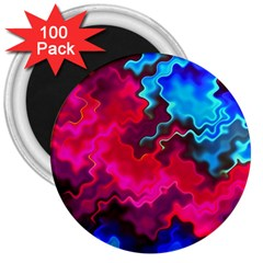 Psychedelic Storm 3  Magnets (100 Pack)
