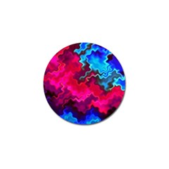 Psychedelic Storm Golf Ball Marker