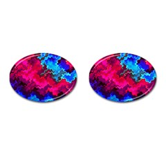 Psychedelic Storm Cufflinks (oval)
