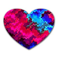 Psychedelic Storm Heart Mousepads
