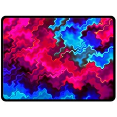 Psychedelic Storm Fleece Blanket (Large)