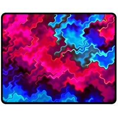 Psychedelic Storm Fleece Blanket (medium)