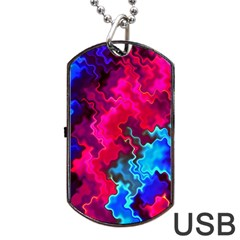 Psychedelic Storm Dog Tag USB Flash (One Side)