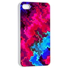 Psychedelic Storm Apple iPhone 4/4s Seamless Case (White)