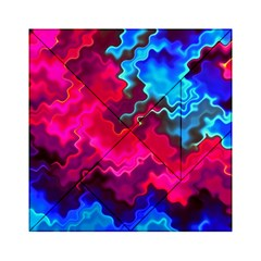 Psychedelic Storm Acrylic Tangram Puzzle (6  x 6 )