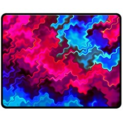 Psychedelic Storm Double Sided Fleece Blanket (medium)