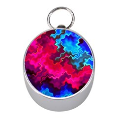 Psychedelic Storm Mini Silver Compasses