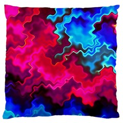 Psychedelic Storm Large Flano Cushion Cases (Two Sides)