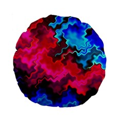 Psychedelic Storm Standard 15  Premium Flano Round Cushions