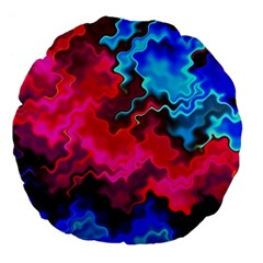 Psychedelic Storm Large 18  Premium Flano Round Cushions