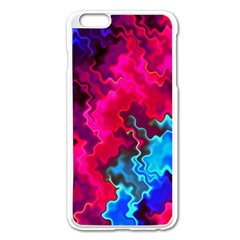 Psychedelic Storm Apple iPhone 6 Plus Enamel White Case
