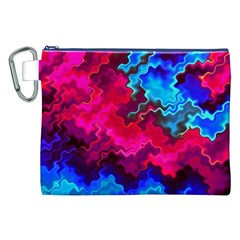 Psychedelic Storm Canvas Cosmetic Bag (XXL)