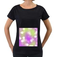 Modern Bokeh 7 Women s Loose Fit T Shirt (black)