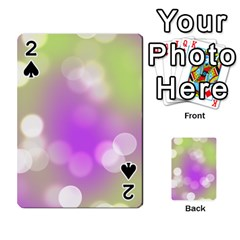 Modern Bokeh 7 Playing Cards 54 Designs