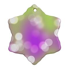 Modern Bokeh 7 Snowflake Ornament (2 Side)