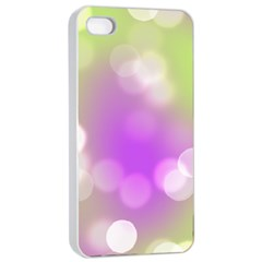 Modern Bokeh 7 Apple Iphone 4/4s Seamless Case (white)