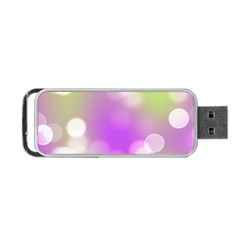 Modern Bokeh 7 Portable Usb Flash (one Side)