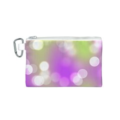 Modern Bokeh 7 Canvas Cosmetic Bag (S)