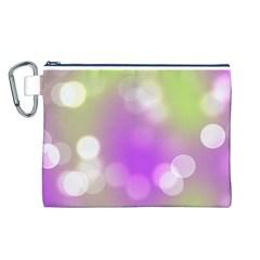 Modern Bokeh 7 Canvas Cosmetic Bag (L)