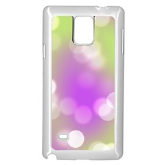 Modern Bokeh 7 Samsung Galaxy Note 4 Case (White)