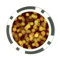Modern Bokeh 9 Poker Chip Card Guards
